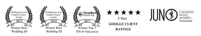 DJ Vancouver - Divinity DJs - Award Banner